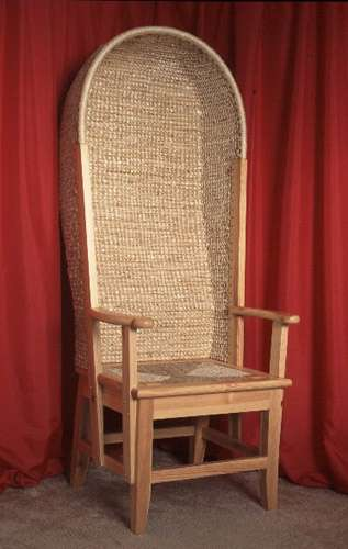 orkney chair in pine with hood